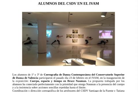 Exposicion Bruce Nauman en IVAM