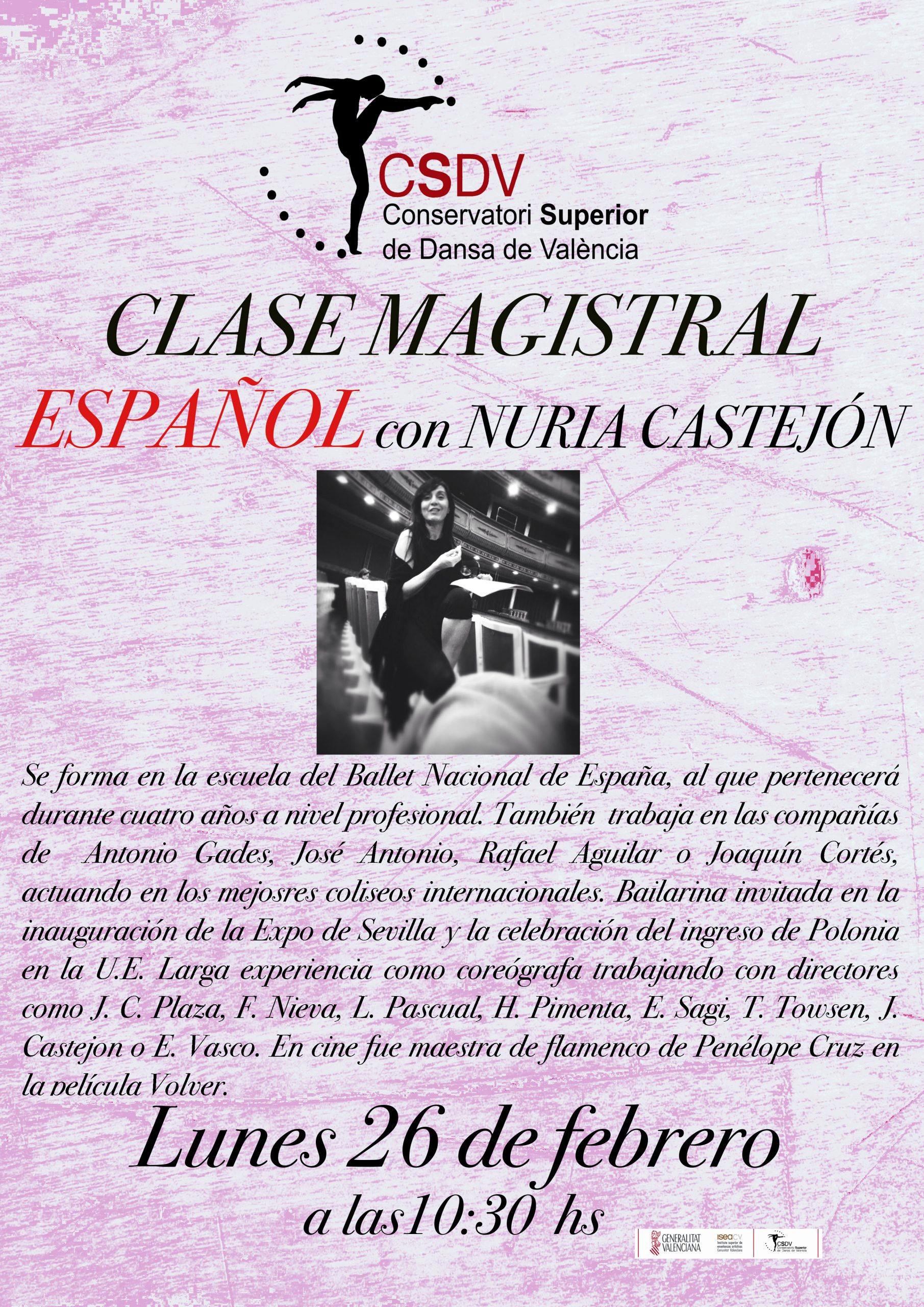 Clase Magistral Nuria Castejón