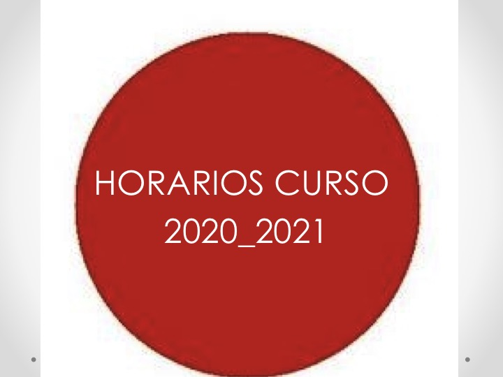 HORARIOS CURSO 2020_2021 CON AULAS ASIGNADAS. 1º SEMESTRE. Actualización del 4 de noviembre