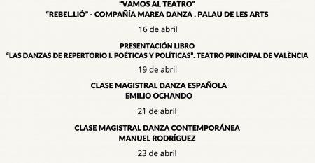 CSDV danza en abril. 2021